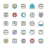 Design and Development Cool Vector Icons 3 Stock Photography