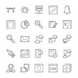 Design and Development Cool Vector Icons 4 Royalty Free Stock Photography