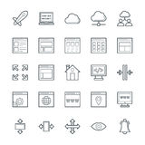 Design and Development Cool Vector Icons 2 vector illustration