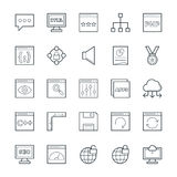Design and Development Cool Vector Icons 3 Stock Image