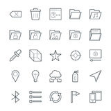 Design and Development Cool Vector Icons 5 Royalty Free Stock Image