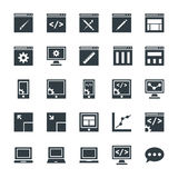 Design and Development Cool Vector Icons 1 Stock Images