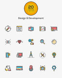 Design and Development icons Stock Images