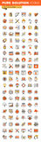 Design and development thin line flat design web icons collection Royalty Free Stock Image