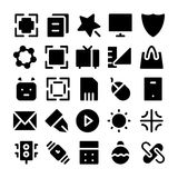 Design & Development Vector Icons 1 royalty free stock images