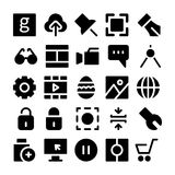 Design & Development Vector Icons 4 Royalty Free Stock Photography
