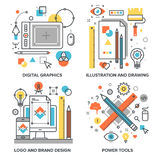 Design and Development Royalty Free Stock Images