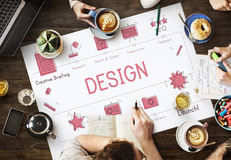 Design Development Visualize Creativity Concept Stock Photography