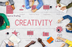 Design Development Visualize Creativity Concept Stock Images