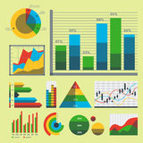 Design diagram chart elements vector illustration of business flow sheet graph infographics data template Stock Photos