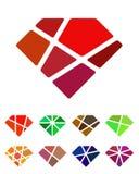 Design diamond logo element. Stock Image