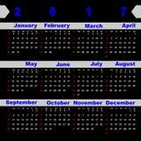 Design digit vector template of 2017 calendar. Stock vector Stock Photo
