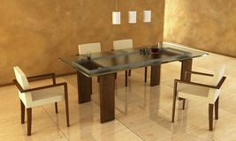 Design of the dining room Stock Images