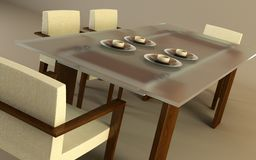 Design of the dining room Royalty Free Stock Images
