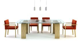 Design of the dining room Royalty Free Stock Image