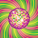 Design with disco-ball Royalty Free Stock Photography