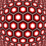 Design distorted hexagon geometric pattern Stock Photography