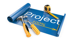 The design document - the drawing and working tools Stock Photography