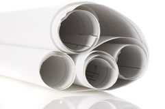 Design draft papers Royalty Free Stock Image