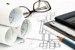 Design draft papers Stock Photos