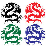 Design of dragons Stock Photography