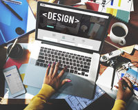 Design Drawing Outline Planning Purpose Creative Concept Royalty Free Stock Photography