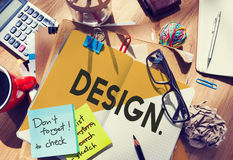 Design Drawing Outline Planning Purpose Creative Concept Stock Photo