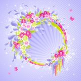 Design with drops and flowers. Stock Images