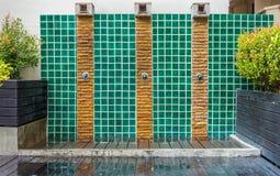 Design Duschens drei im Freien Stockbilder
