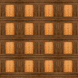 Design with ebony and light wood Royalty Free Stock Images