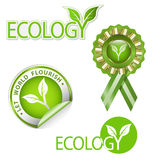 Ecology-related  graphic element kit Stock Image