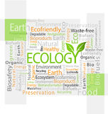 Ecology-related tag cloud  illustration Royalty Free Stock Photography
