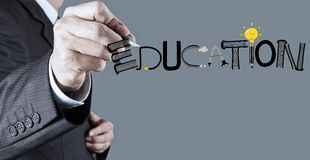 Design EDUCATION word as concept Stock Image