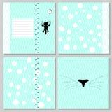 Design eines Notizbuches der Kinder Stockfotografie