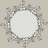 Design element. Floral ormament. Detailed vector drawing Stock Photography