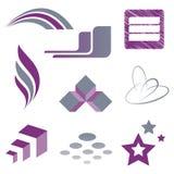 Design element. Vector based signs for logos stock illustration