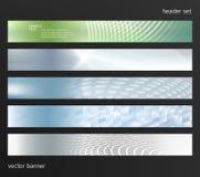 Design element background website header horizontal banner01. Set Design elements business presentation template. Vector illustration horizontal web banners royalty free illustration
