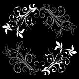 Design element on a black background Royalty Free Stock Photos