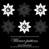 Design element on a black background. Design element flowers on a black background Stock Illustration
