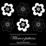 Design element on a black background. Design element flowers on a black background Vector Illustration