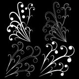 Design element on a black background Royalty Free Stock Image