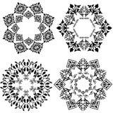 Design element (black and white version). Decorative Floral Design Elements,   illustration Stock Photos