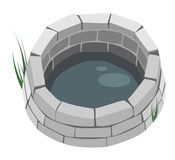 Design Element - A Brick Well. Stock Photography