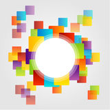 Design element with colorful squares Royalty Free Stock Image