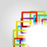 Design element with colorful squares Stock Image