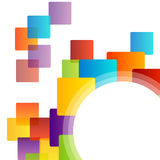 Design element with colorful squares Royalty Free Stock Photo