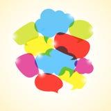 Design element of colorful transparent bubbles Stock Photo