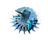Design element - crystal 1. 3d Design Element - Very Useful for various applications stock illustration