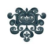 Gothic vector design element.Swirls graphic design element. Design element with curls.Doodles waves.Swirls . Waves border silhouette.Design element.Floral stock illustration