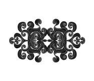Design element with curls. Doodles waves.Water. Waves border silhouette.Design element.Floral elements royalty free illustration